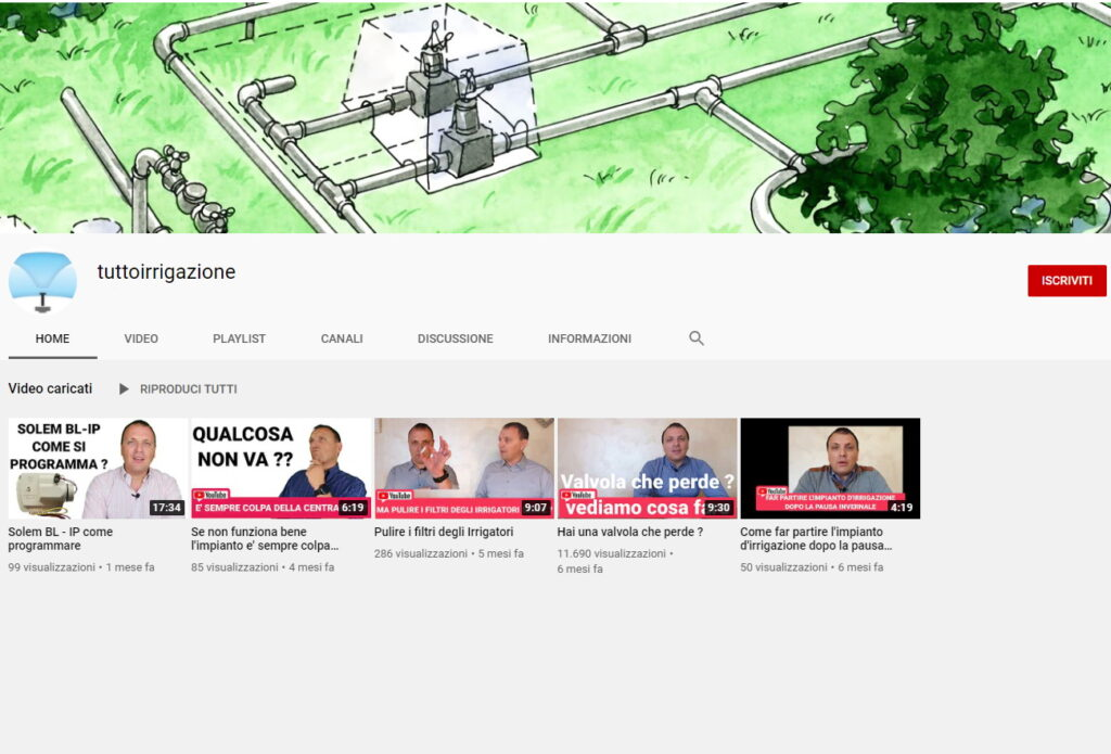 youtube tuttoirrigazione