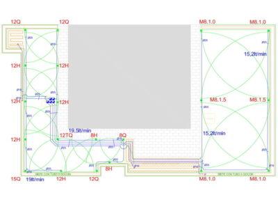 Corso personale di Progettazione rapporto 1 : 1 per impianti d'irrigazione